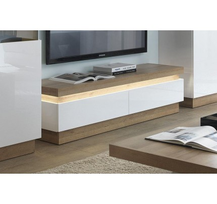 Lyon 2 Drawer TV Cabinet White High Gloss