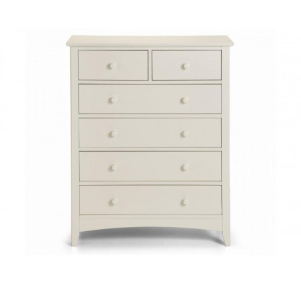 Cameo 4+2  Painted White Chest of Drawers