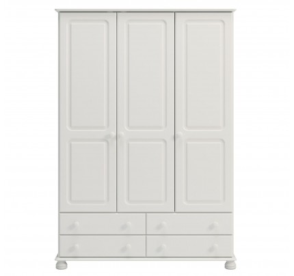 Copenhagen 3 Door 4 Drawer Wardrobe White