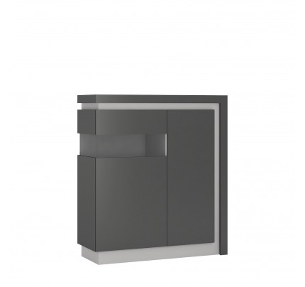 Lyon 2 Door Low Display Cabinet (LH) Grey Gloss