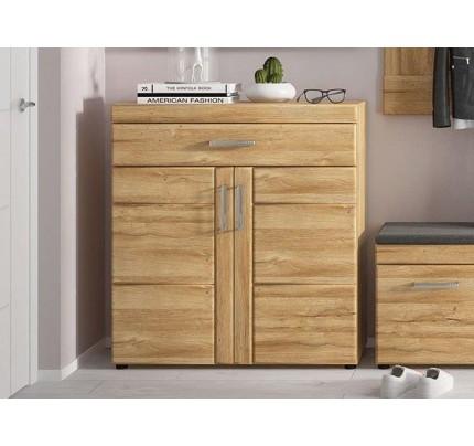 Cortina 2 Door Show Cabinet Oak