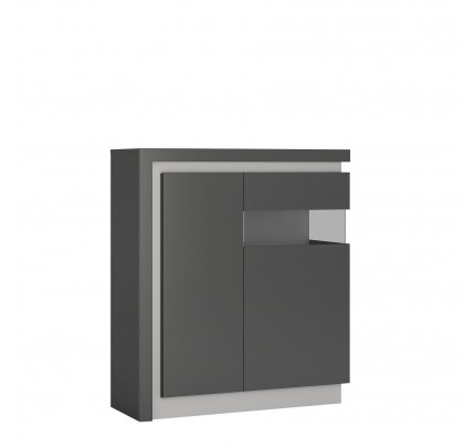 Lyon 2 Door Cabinet  (RH) Grey Gloss
