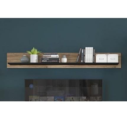 Brolo 167cm Wall Shelf Walnut