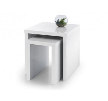 Metro High Gloss Nest of Tables White