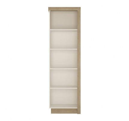 Lyon Bookcase High Gloss White (LH)