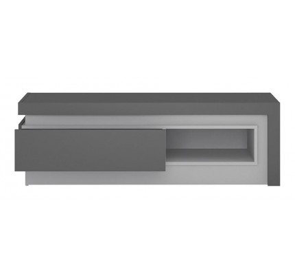 Lyon 1 Drawer TV Cabinet Grey Gloss