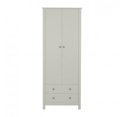 Florence 2 Door 2 Drawer Wardrobe Grey
