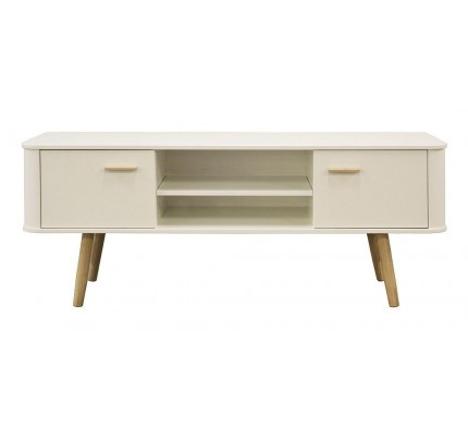 Scandinavian Style Wide TV Cabinet White/Oak