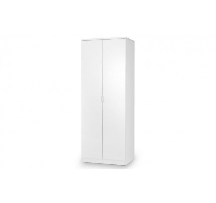 Manhattan 2 Door Wardrobe - High Gloss White