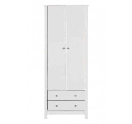 Florence 2 Door 2 Drawer Wardrobe White