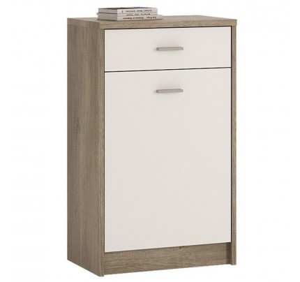 4 You 1 Drawer 1 Door Cupboard in Canyon Grey / Pearl White