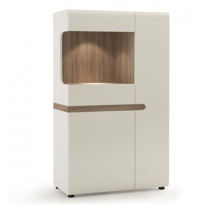 Chelsea Living Low Display Cabinet White Gloss 85cm
