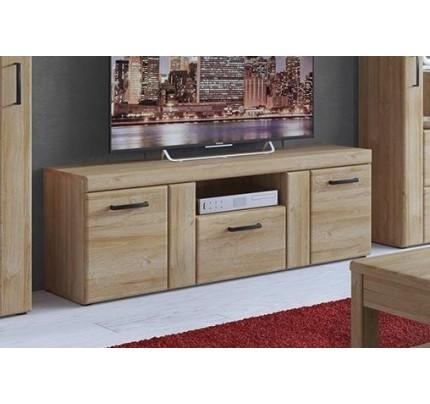 Cortina 2 Door 1 Drawer Tall TV Cabinet Grandson Oak