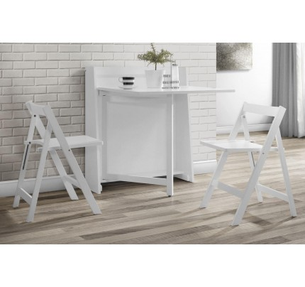 Helsinki Compact Folding White Dining Set
