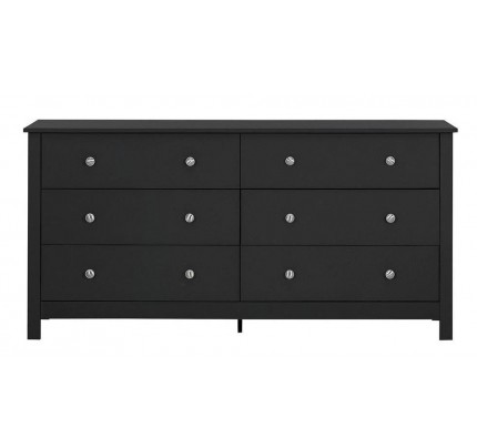 Florence 3+3 Drawer Chest Black