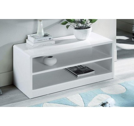 Manhattan Compact TV Unit High Gloss White