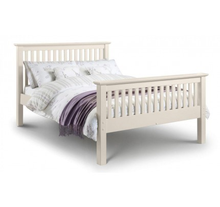 Barcelona High End White Pine Bed