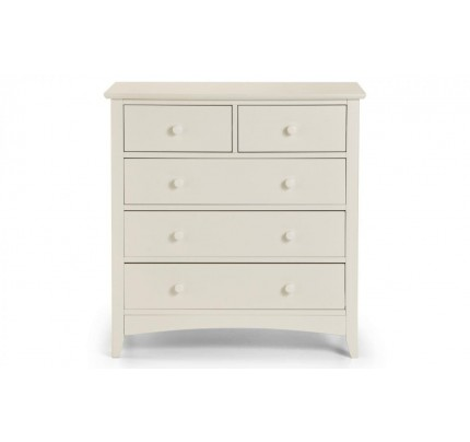 Cameo 3+2 Painted White Chest of Drawers