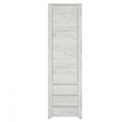 Angel Tall Narrow 1 Door 3 Drawer Narrow Cupboard