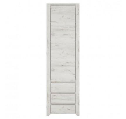 Angel Tall Narrow 1 Door 3 Drawer Narrow Cupboard