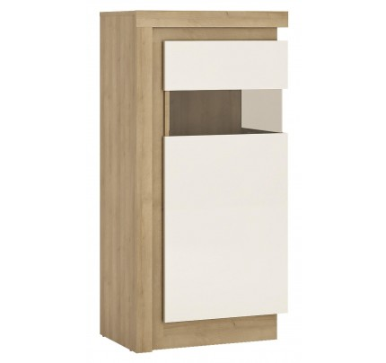 Lyon Narrow Display Cabinet (RH) 120cm White Gloss