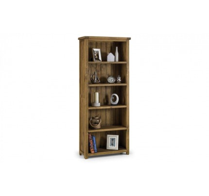 Aspen Tall Bookcase Solid Oak Assembled