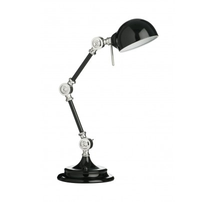 Library Adjustable Desk Lamp Metal Black