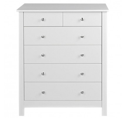 Florence 4+2 Drawer Chest White