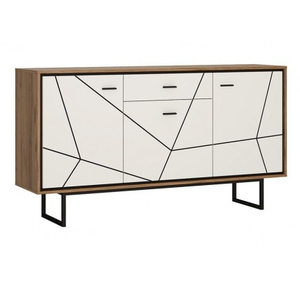 Brolo 3 Door 1 Drawer Sideboard Walnut