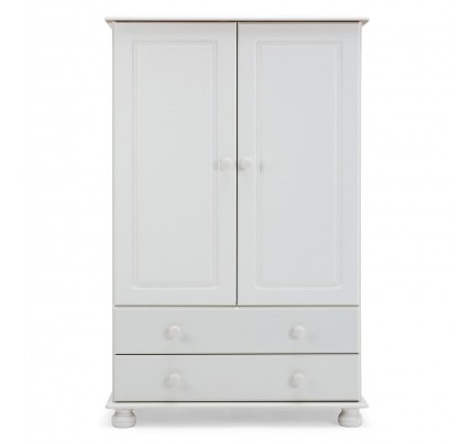 Copenhagen 2 Door 2 Drawer Combi Wardrobe White