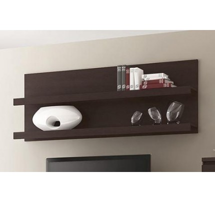Pello 136cm Wide Wall Shelf Dark Mahogany