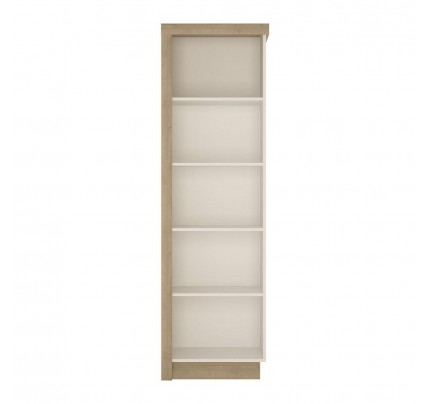 Lyon Bookcase High Gloss White (RH)