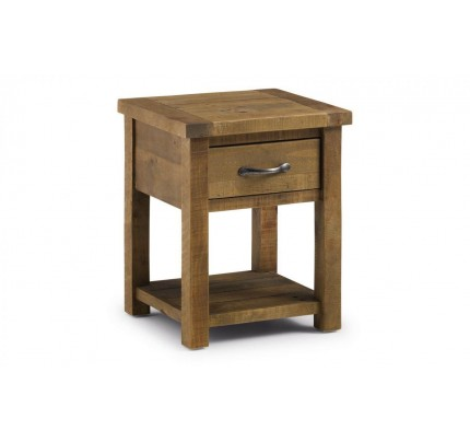 Aspen Lamp Table With Drawer Assembled